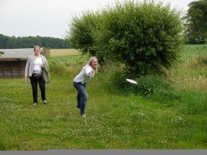 Frisbee-Meisterschaften beim Familienfest der Kanzlei