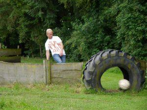 Auch beim Fußballgolf während des Familienfestes wurden Talente entdeckt